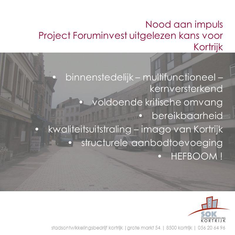 Nood aan impuls Project Foruminvest uitgelezen kans voor Kortrijk
