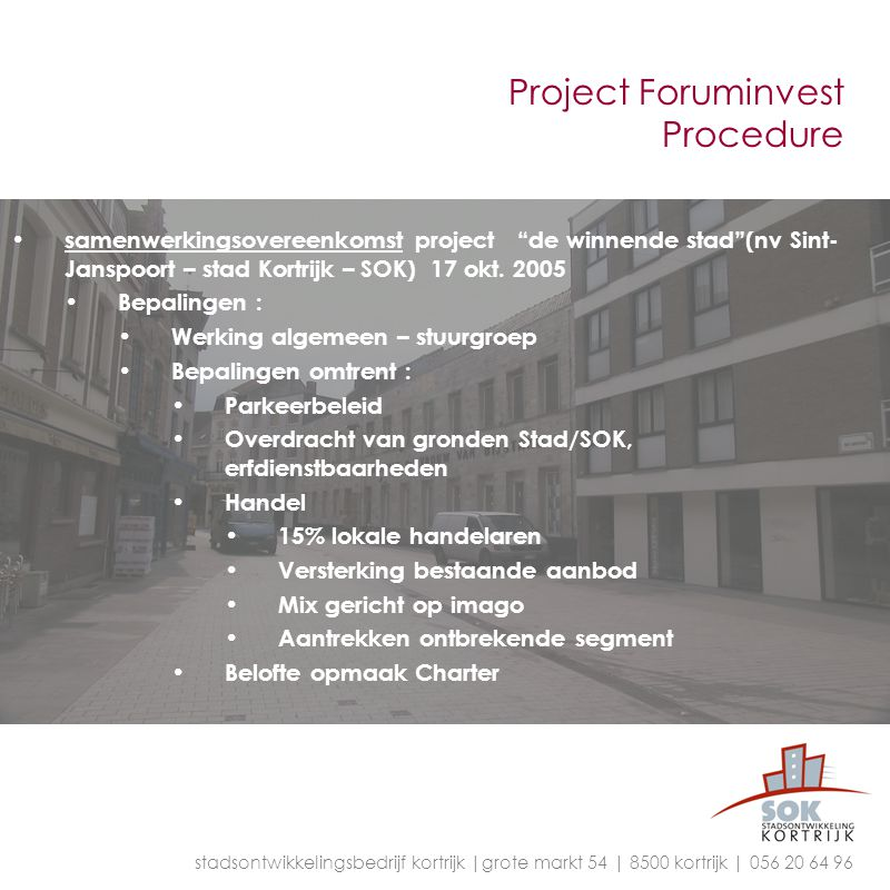 Project Foruminvest Procedure