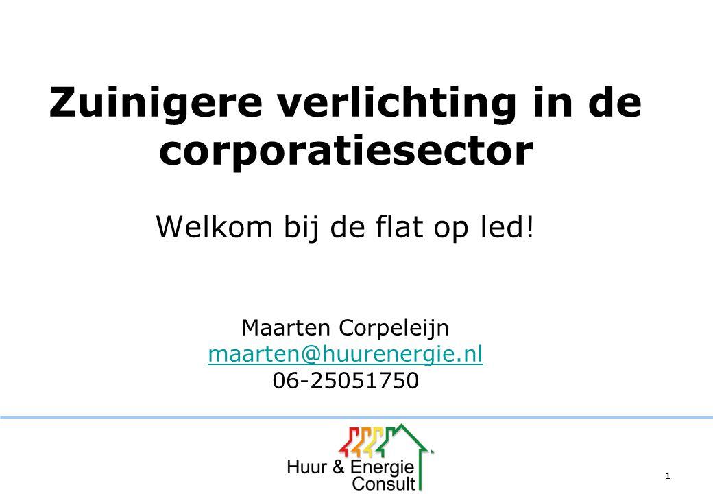 Zuinigere verlichting in de corporatiesector Welkom bij de flat op led