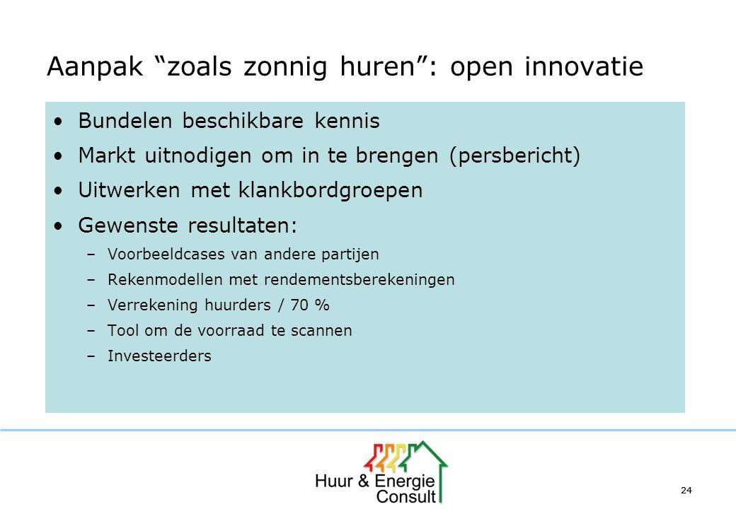Aanpak zoals zonnig huren : open innovatie