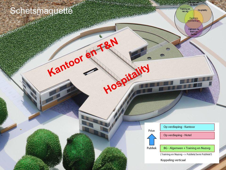 Schetsmaquette Kantoor en T&N Hospitality