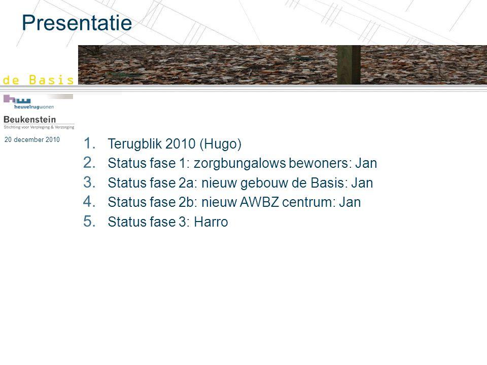 Presentatie Terugblik 2010 (Hugo)