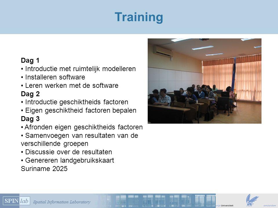 Training Dag 1 Introductie met ruimtelijk modelleren