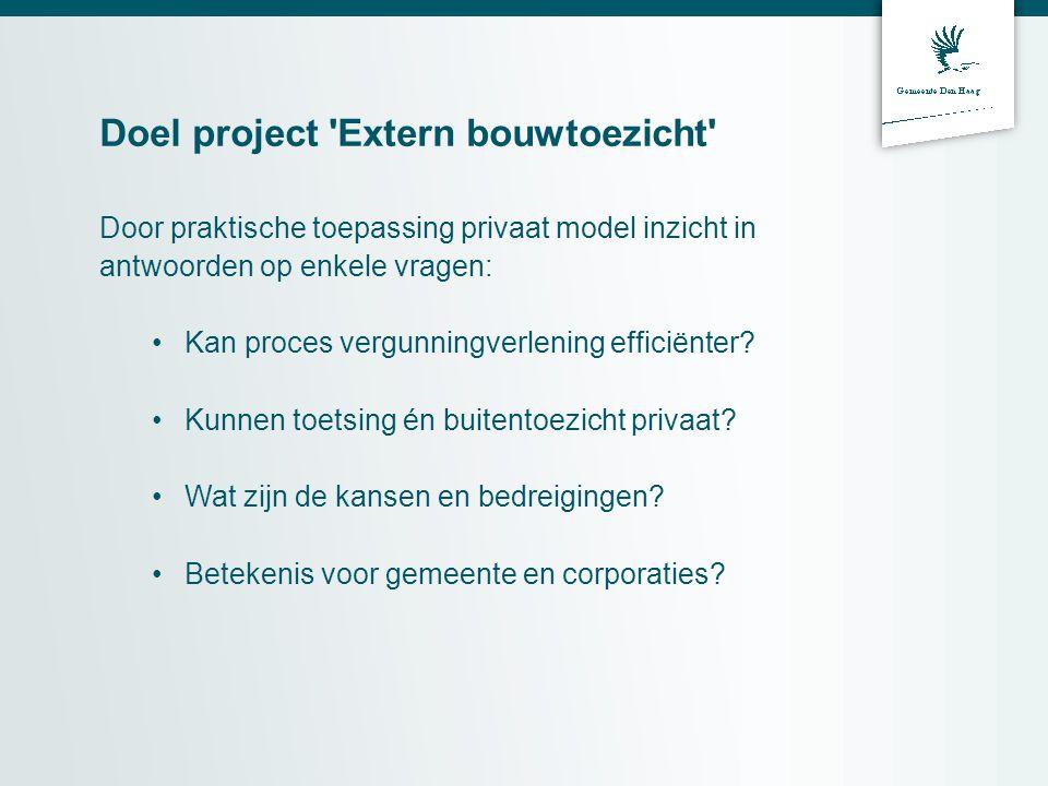 Doel project Extern bouwtoezicht