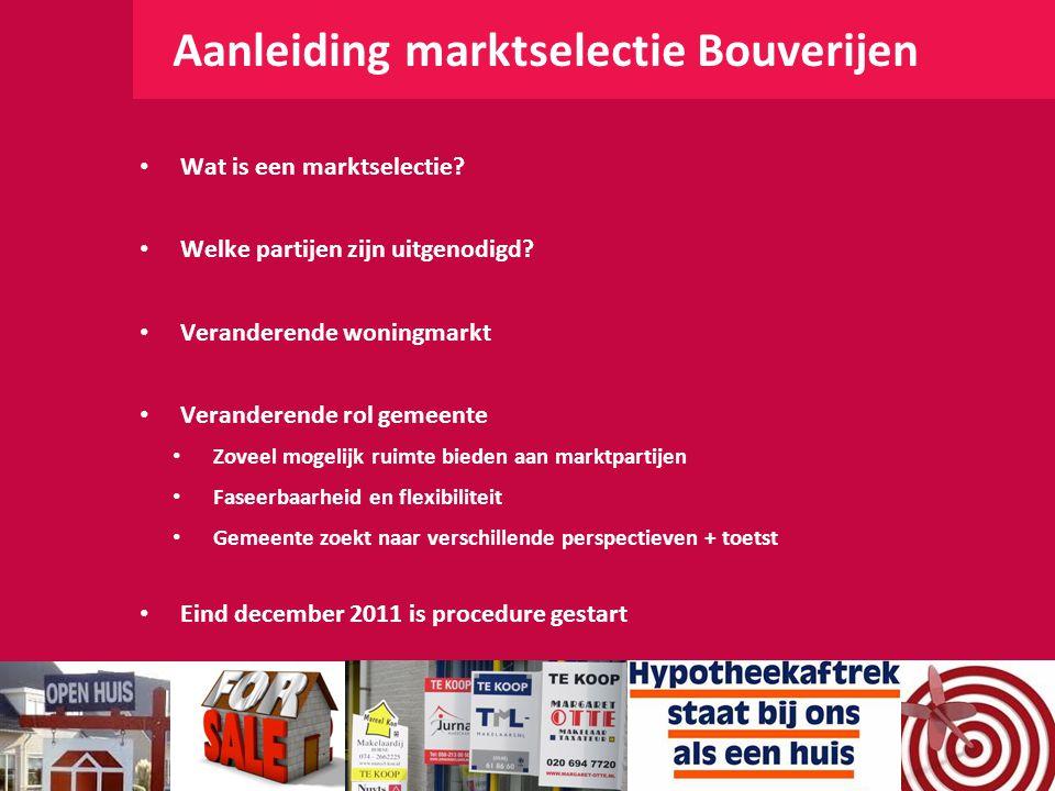 Aanleiding marktselectie Bouverijen