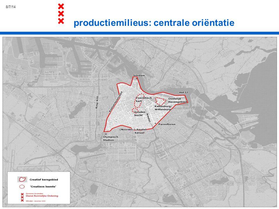 productiemilieus: centrale oriëntatie