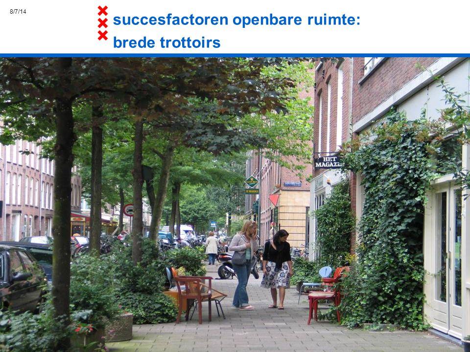 succesfactoren openbare ruimte: brede trottoirs