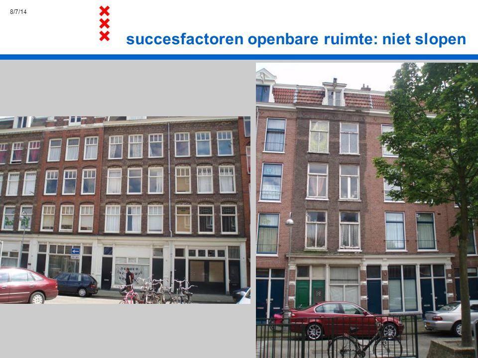 succesfactoren openbare ruimte: niet slopen