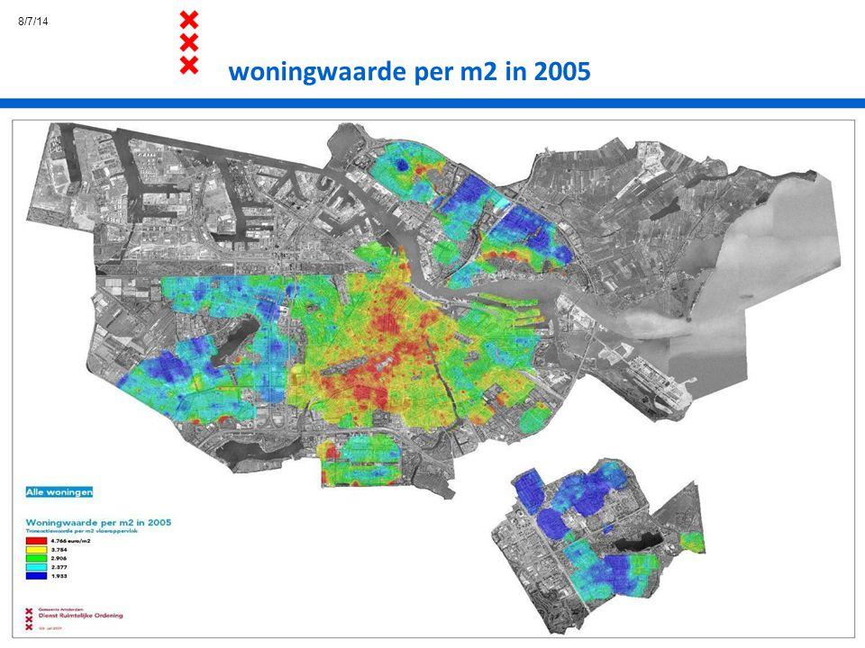 4/4/17 woningwaarde per m2 in 2005