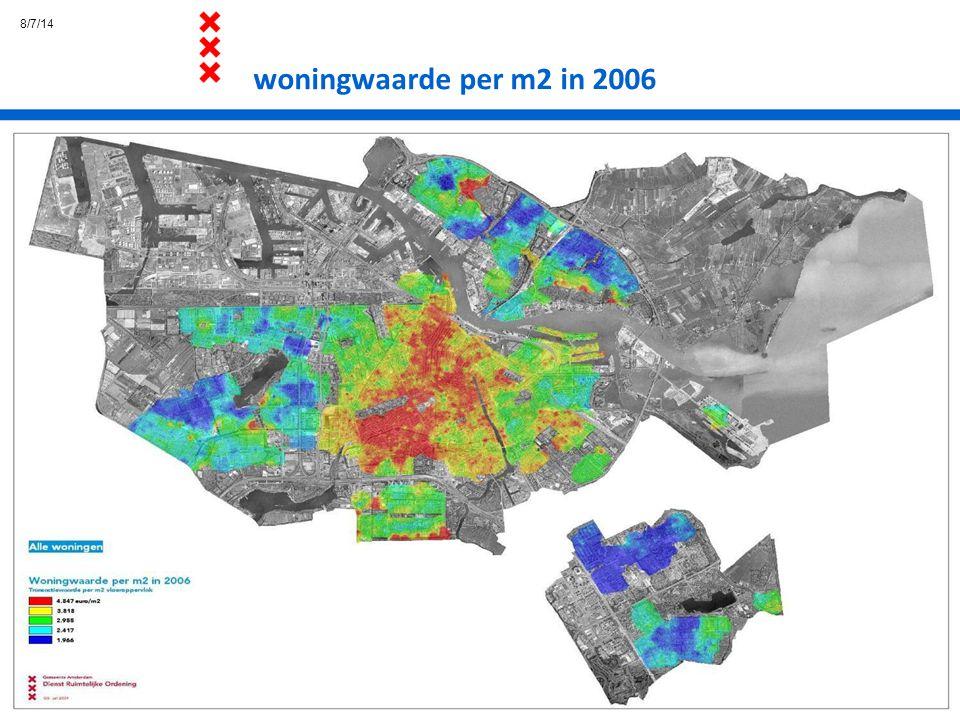 4/4/17 woningwaarde per m2 in 2006