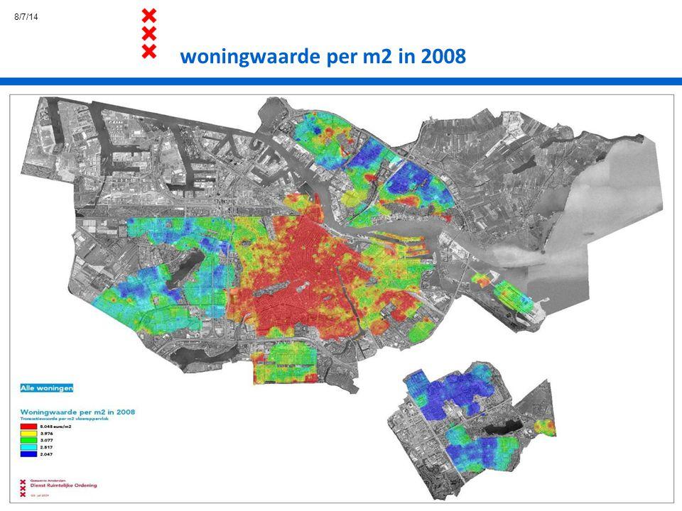 4/4/17 woningwaarde per m2 in 2008