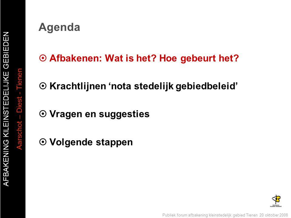 Agenda Afbakenen: Wat is het Hoe gebeurt het