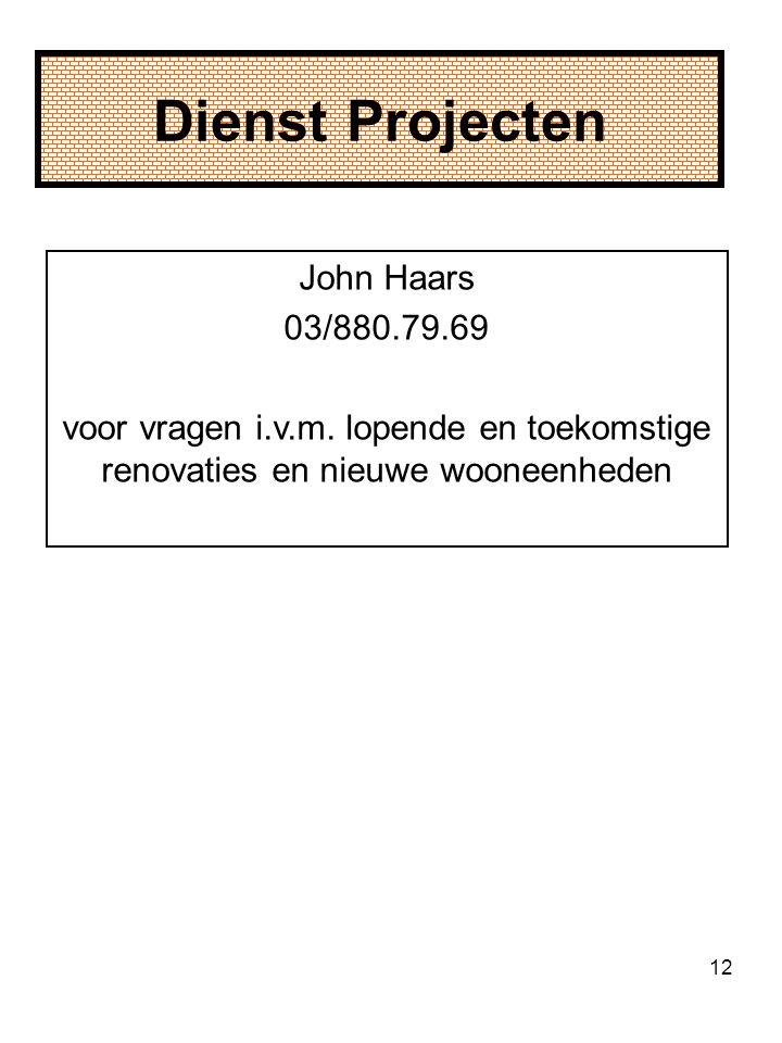 Dienst Projecten John Haars 03/880.79.69