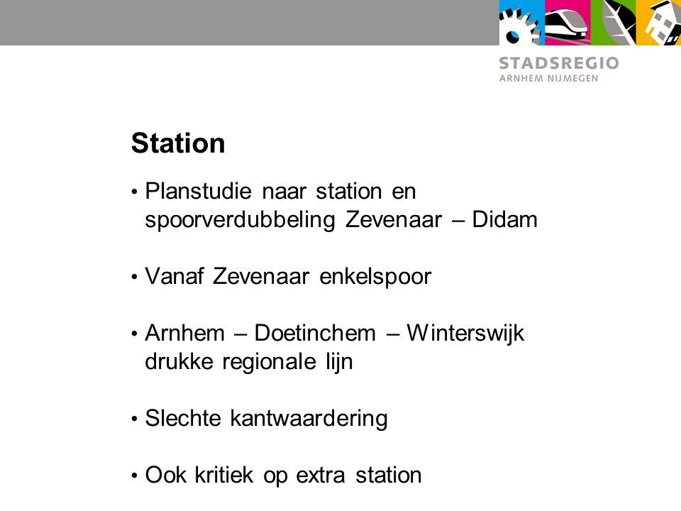 Station Planstudie naar station en spoorverdubbeling Zevenaar – Didam