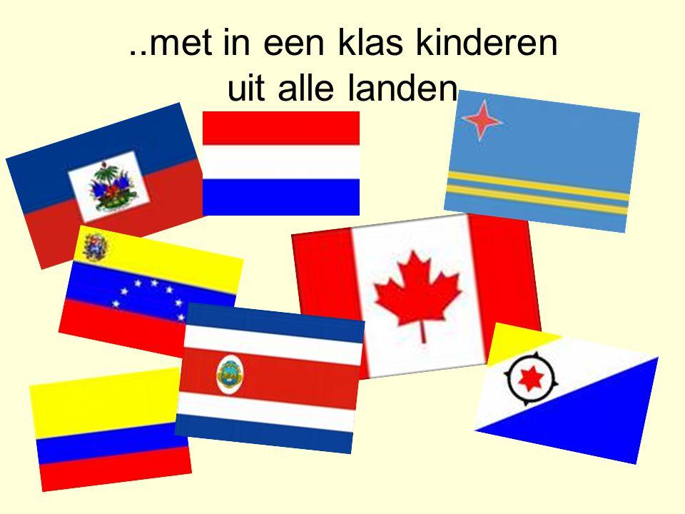 ..met in een klas kinderen uit alle landen