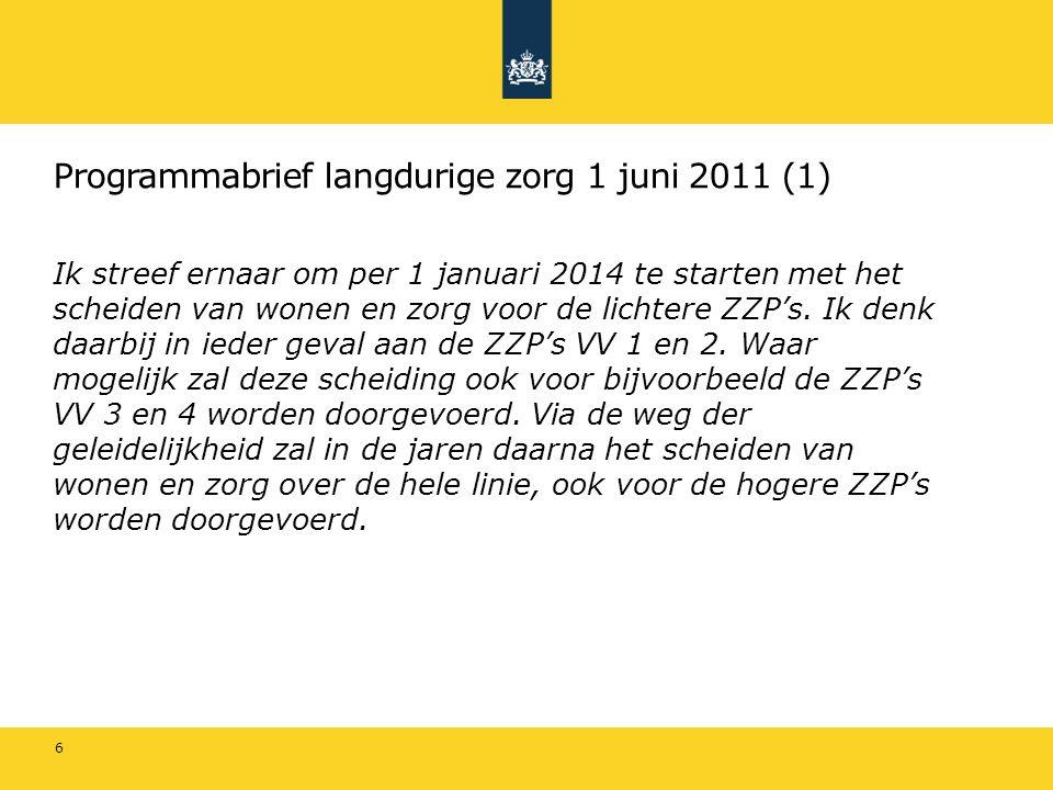 Programmabrief langdurige zorg 1 juni 2011 (1)