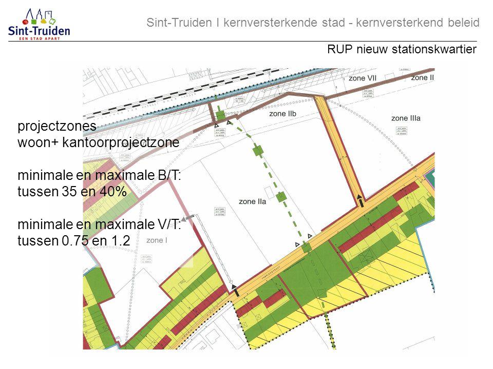 woon+ kantoorprojectzone minimale en maximale B/T: tussen 35 en 40%