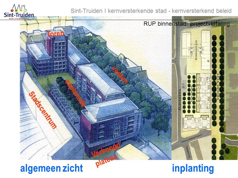 algemeen zicht inplanting Toren vesten esplanade Stadscentrum