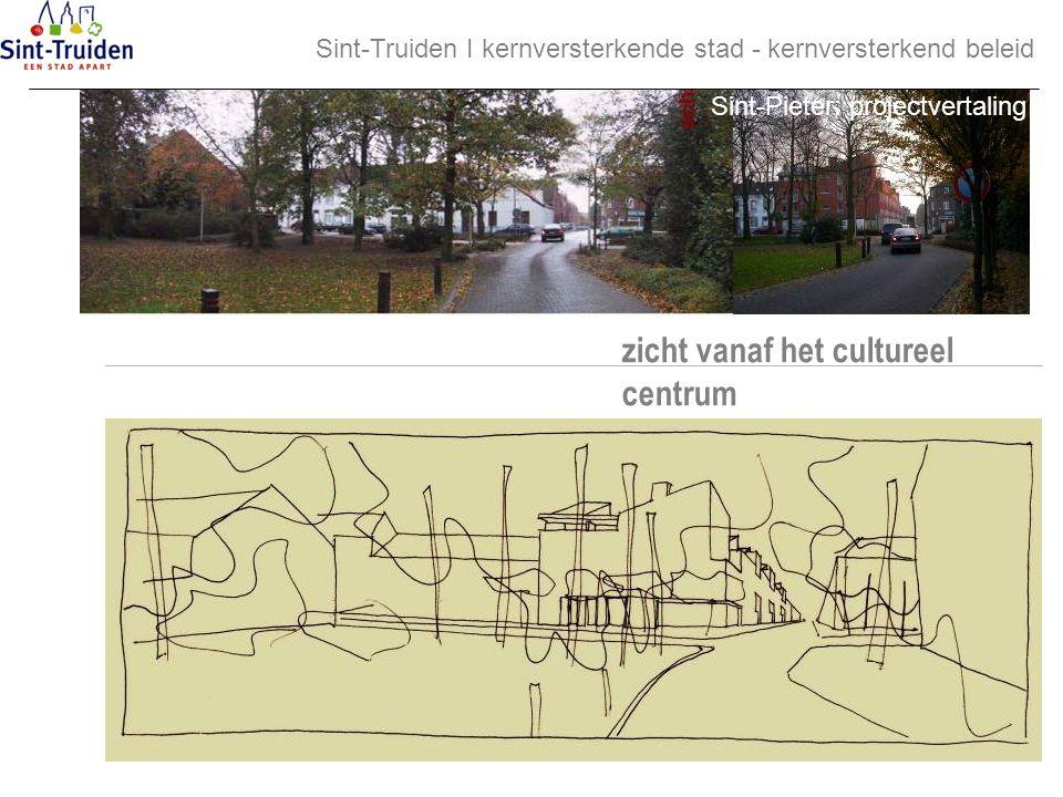 zicht vanaf het cultureel centrum