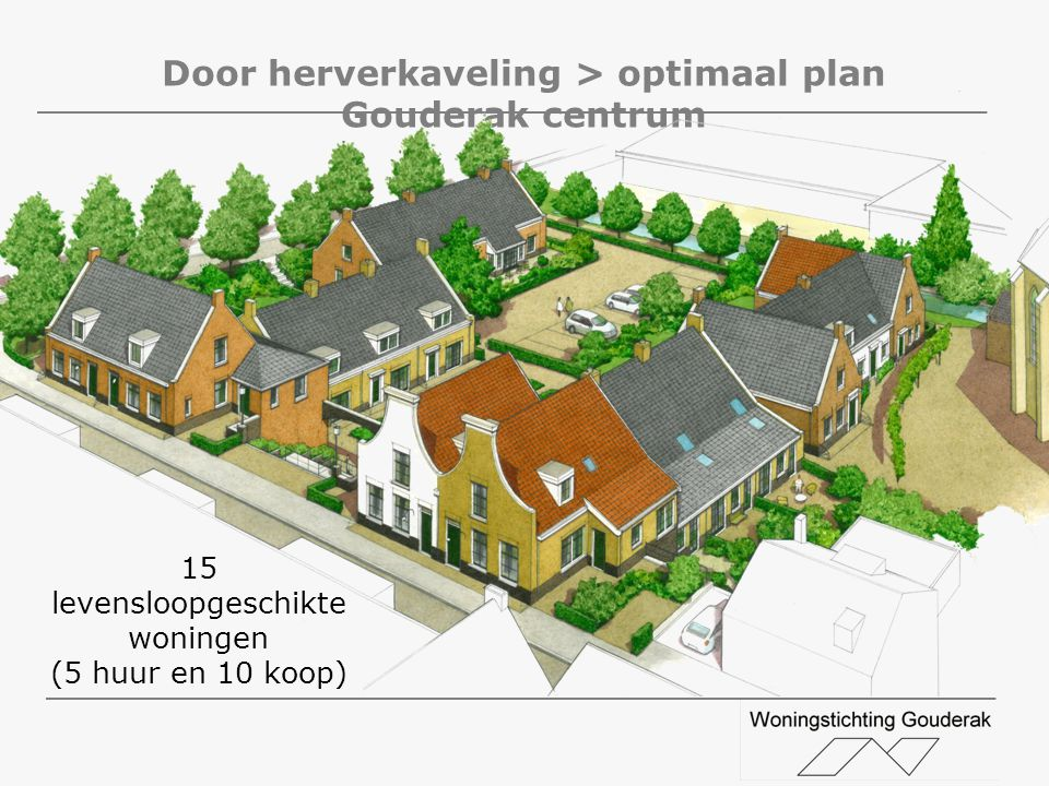 Door herverkaveling > optimaal plan Gouderak centrum