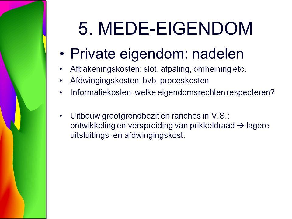 5. MEDE-EIGENDOM Private eigendom: nadelen