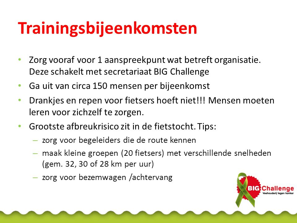 Trainingsbijeenkomsten