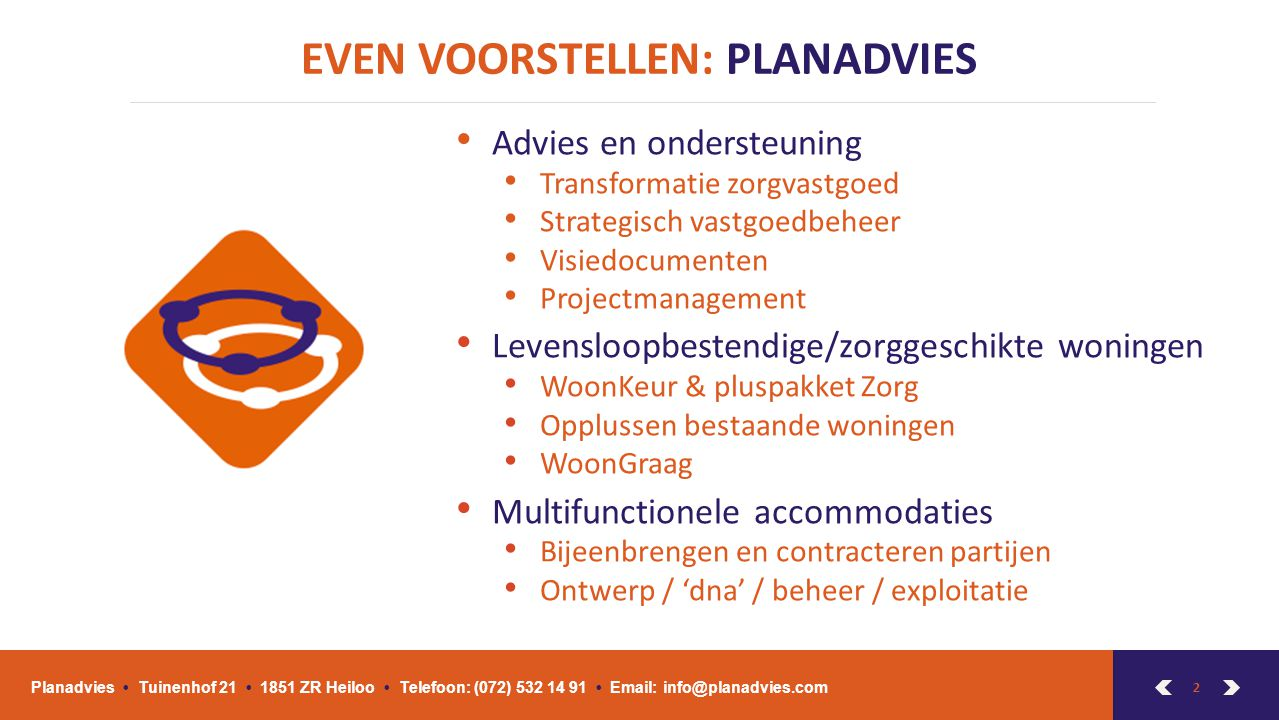 EVEN VOORSTELLEN: PLANADVIES