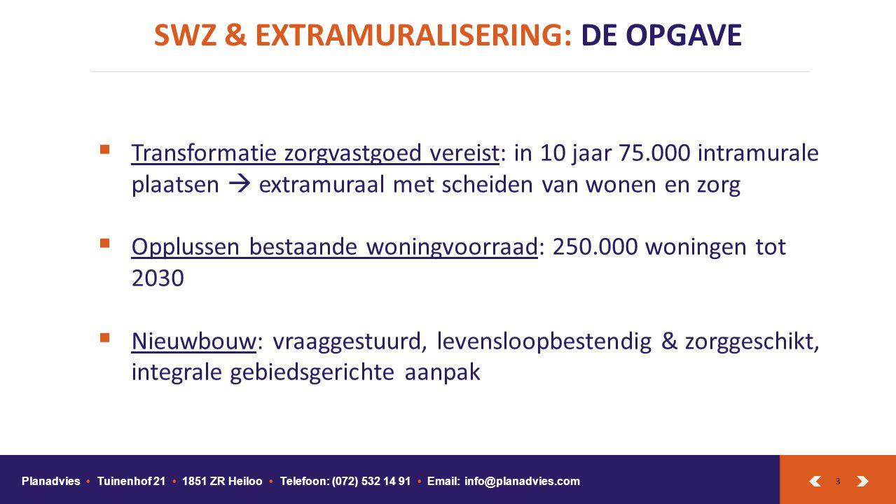 SWZ & EXTRAMURALISERING: DE OPGAVE