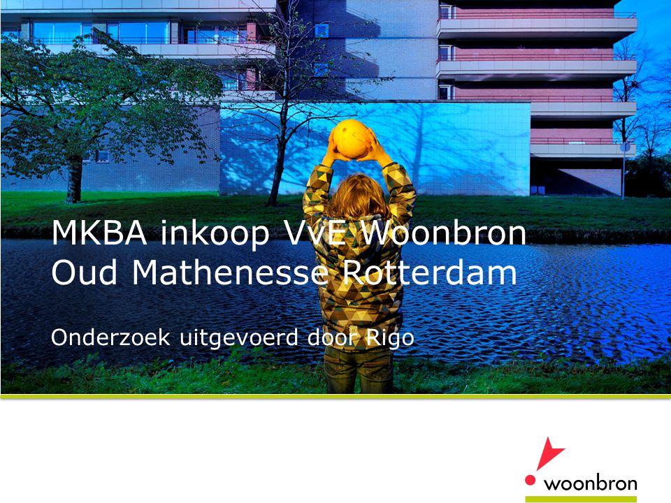 MKBA inkoop VvE Woonbron Oud Mathenesse Rotterdam