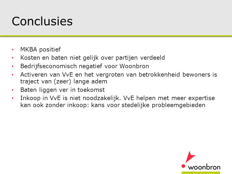 Conclusies MKBA positief