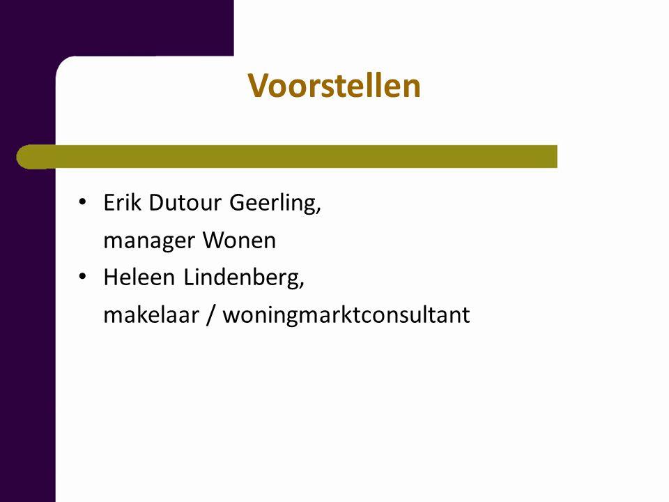 Voorstellen Erik Dutour Geerling, manager Wonen Heleen Lindenberg,