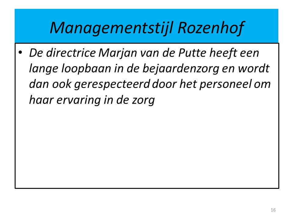 Managementstijl Rozenhof