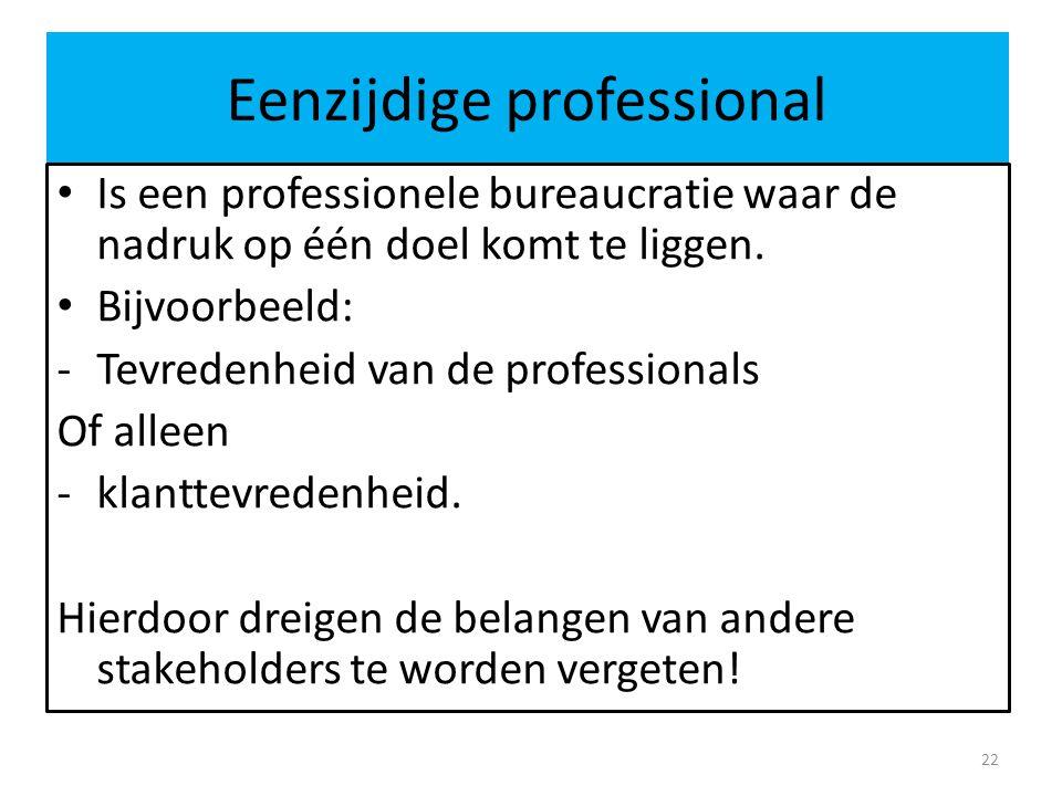 Eenzijdige professional