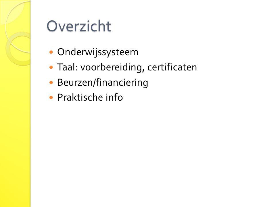 Overzicht Onderwijssysteem Taal: voorbereiding, certificaten