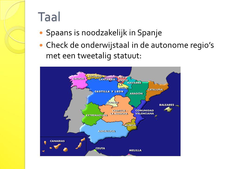 Taal Spaans is noodzakelijk in Spanje