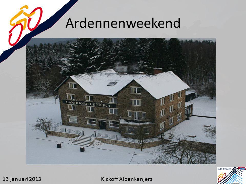 Ardennenweekend 13 januari 2013 Kickoff Alpenkanjers