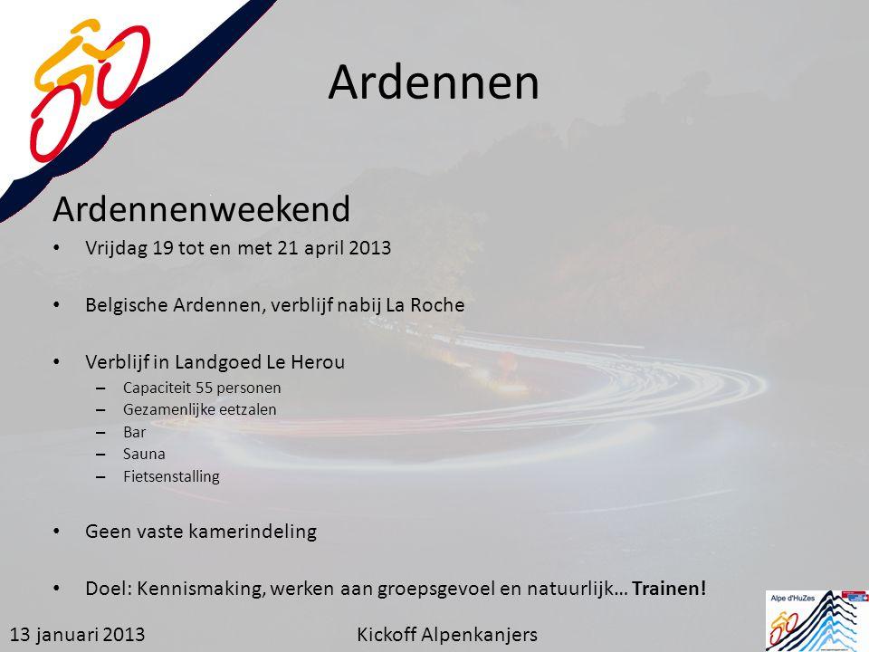 Ardennen Ardennenweekend Vrijdag 19 tot en met 21 april 2013