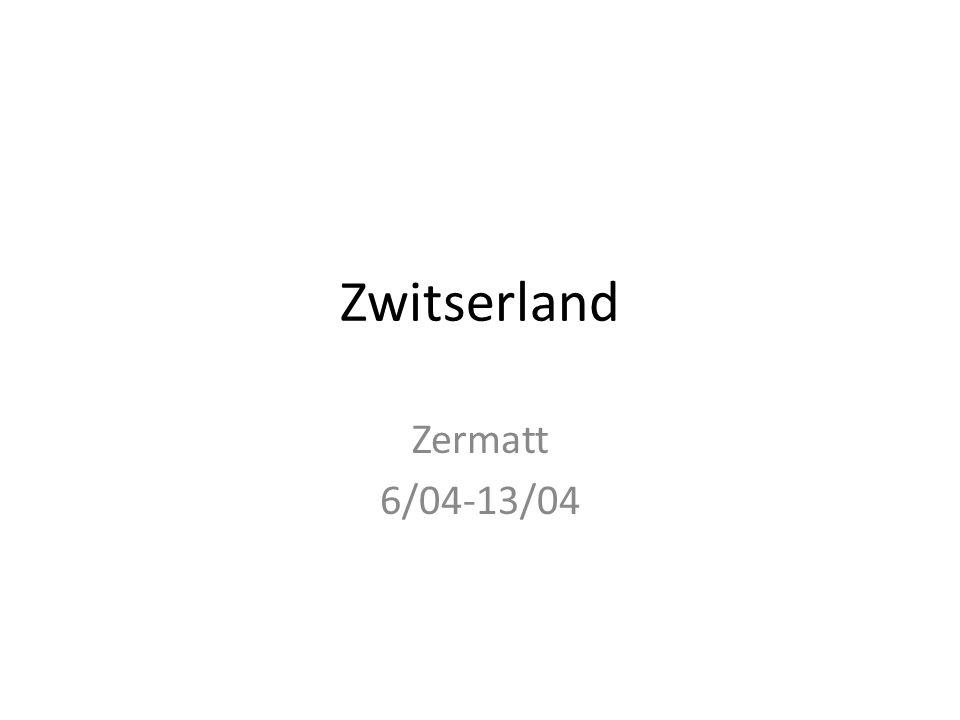 Zwitserland Zermatt 6/04-13/04