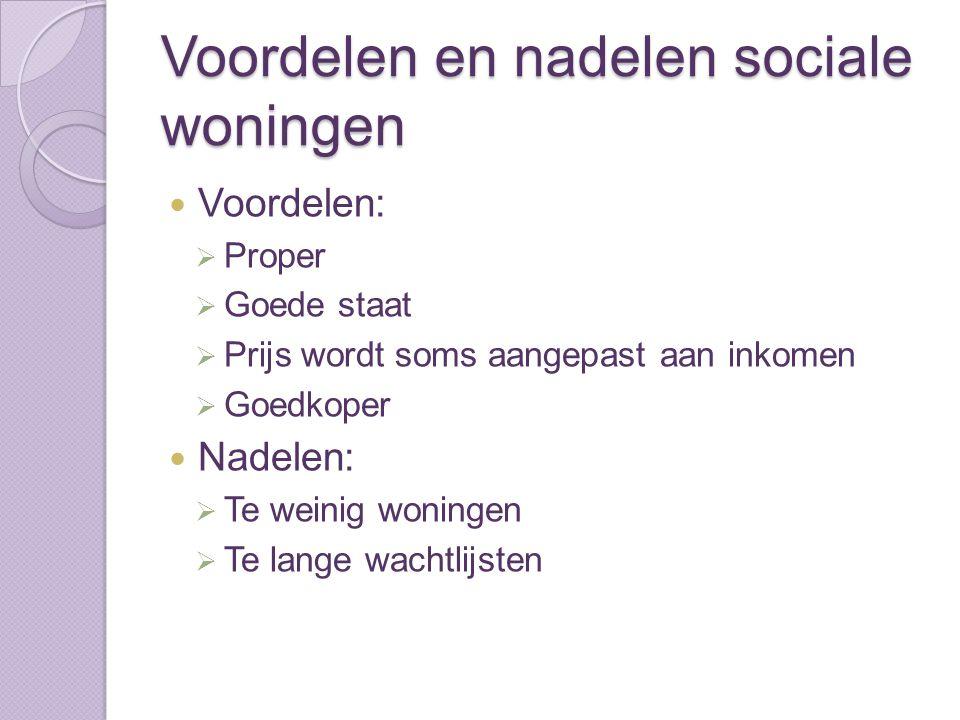 Voordelen en nadelen sociale woningen