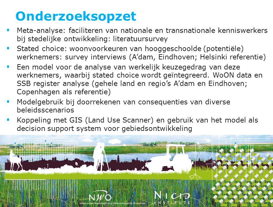Onderzoeksopzet Meta-analyse: faciliteren van nationale en transnationale kenniswerkers bij stedelijke ontwikkeling: literatuursurvey.