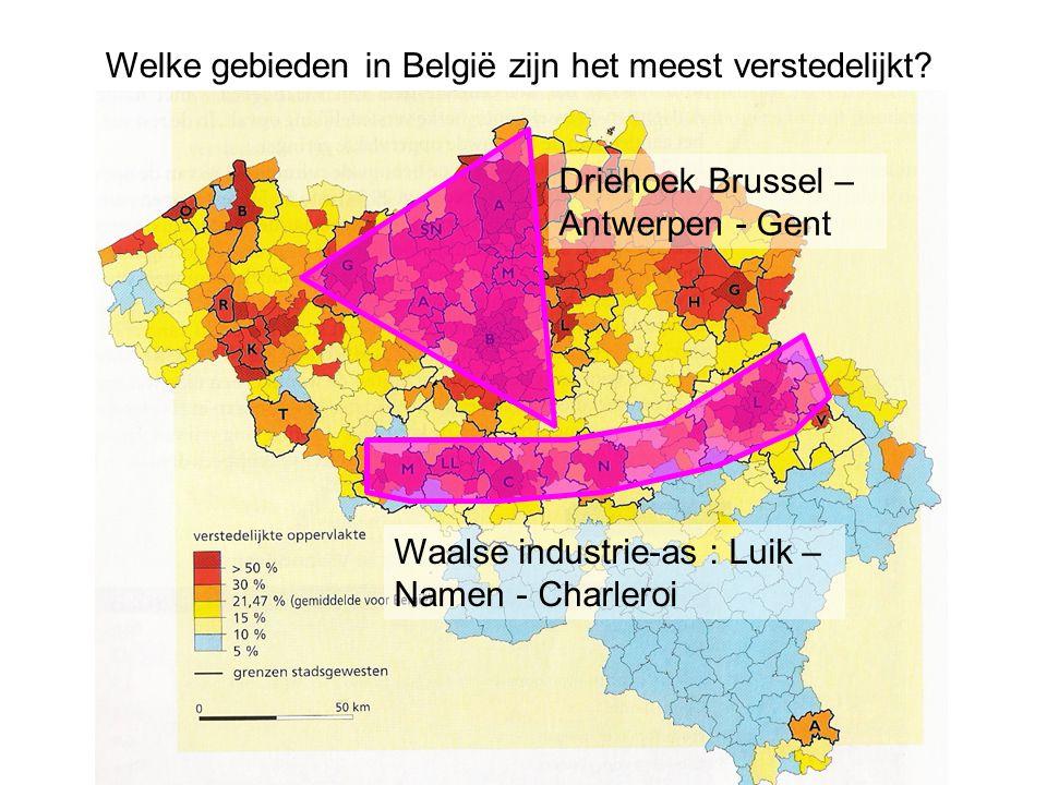 Welke gebieden in België zijn het meest verstedelijkt