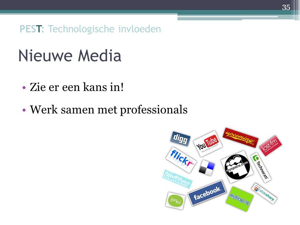 Nieuwe Media Zie er een kans in! Werk samen met professionals