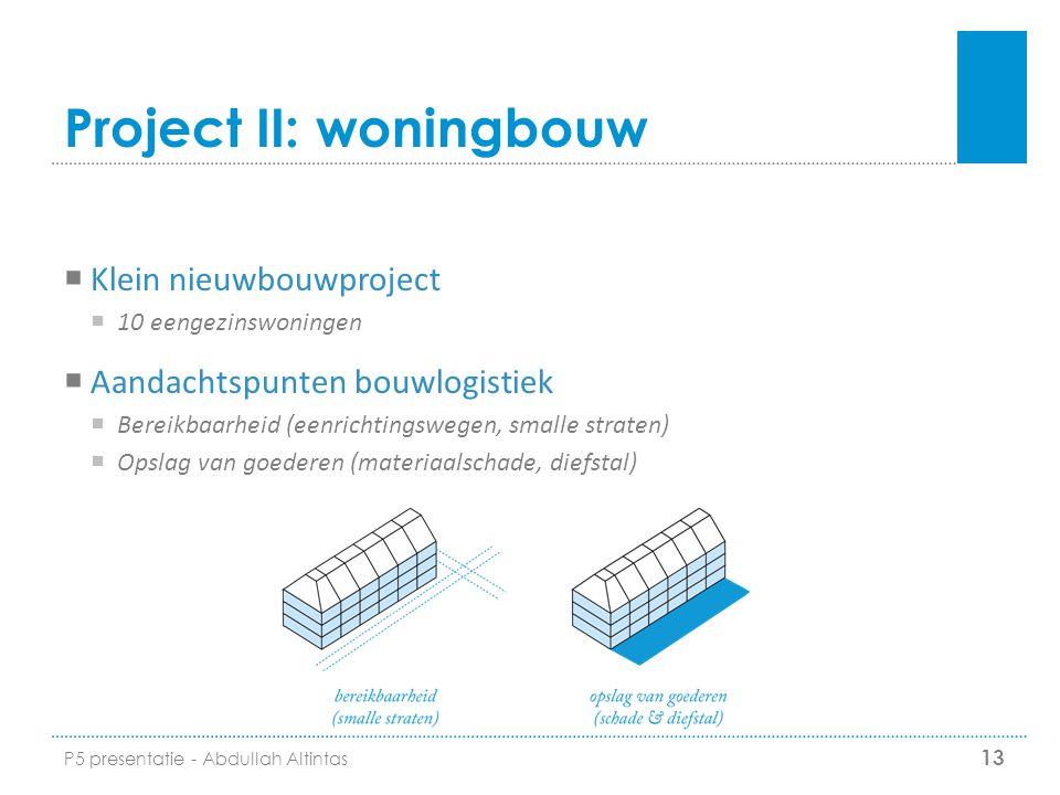 Project II: woningbouw