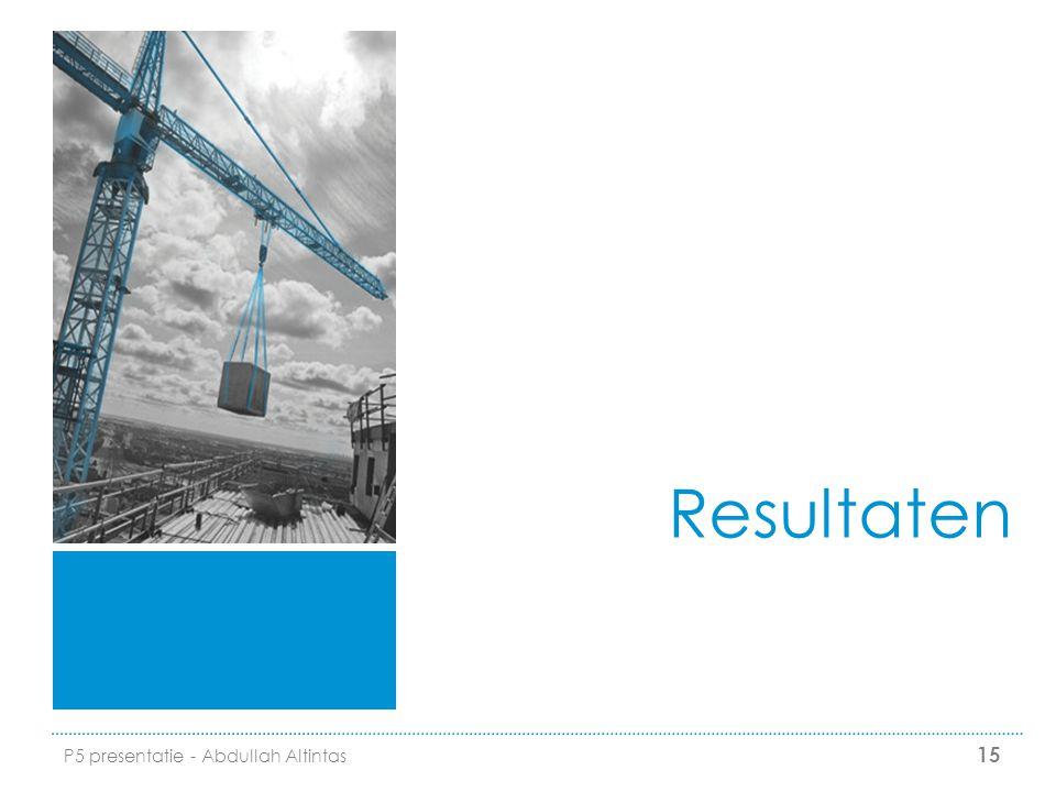 Resultaten P5 presentatie - Abdullah Altintas