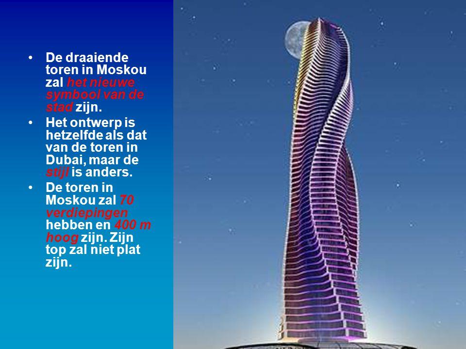 De draaiende toren in Moskou zal het nieuwe symbool van de stad zijn.