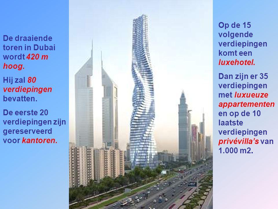 Op de 15 volgende verdiepingen komt een luxehotel.
