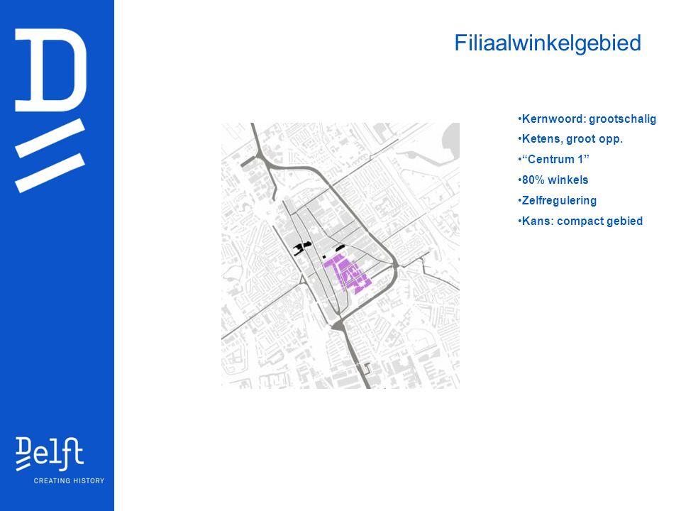 Filiaalwinkelgebied Kernwoord: grootschalig Ketens, groot opp.