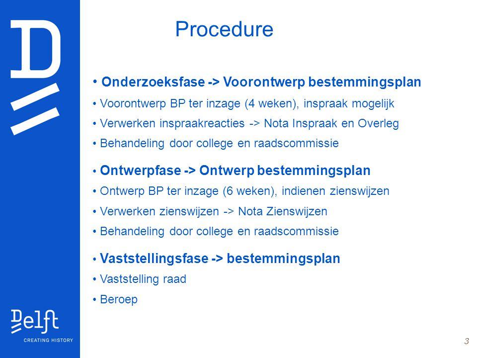 Procedure Onderzoeksfase -> Voorontwerp bestemmingsplan