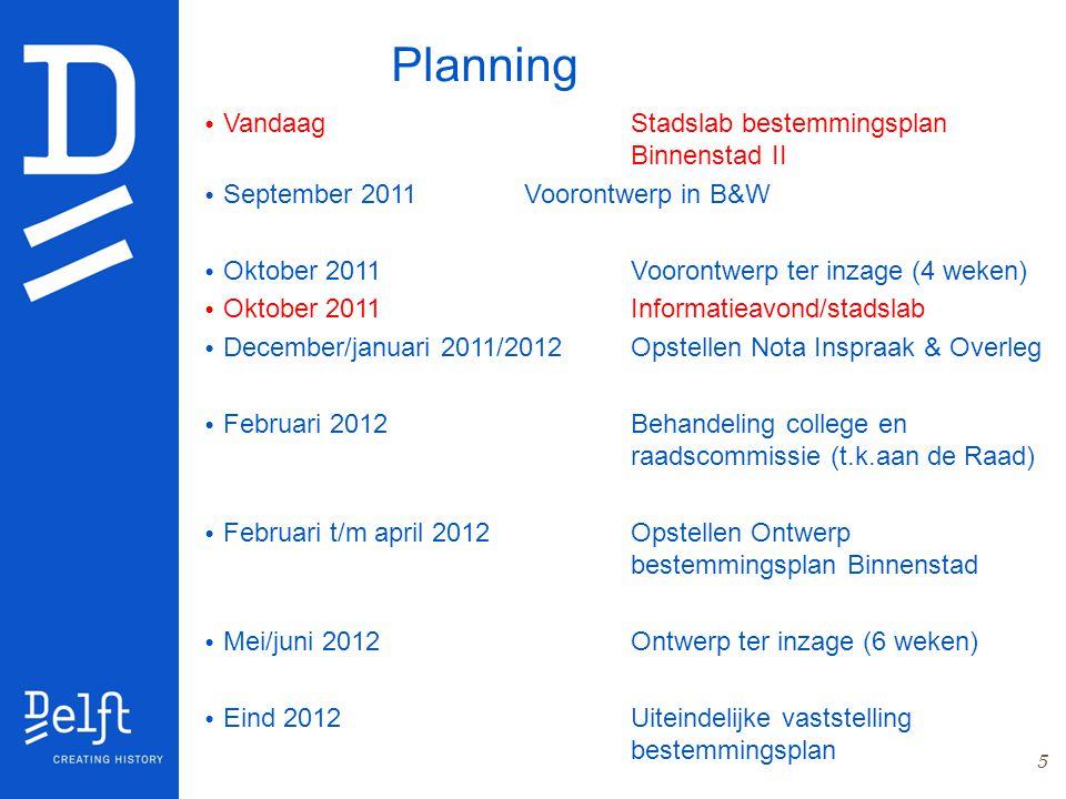 Planning Vandaag Stadslab bestemmingsplan Binnenstad II