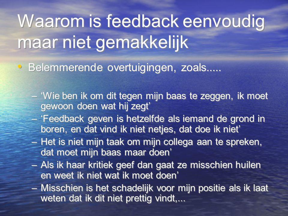 Waarom is feedback eenvoudig maar niet gemakkelijk